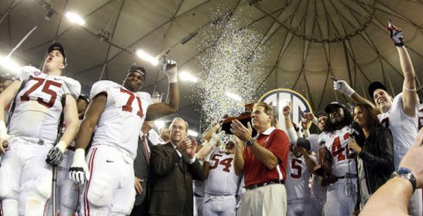 Alabama at 2012 SEC Championship