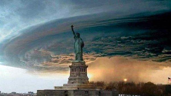 fake Hurricane Sandy photo
