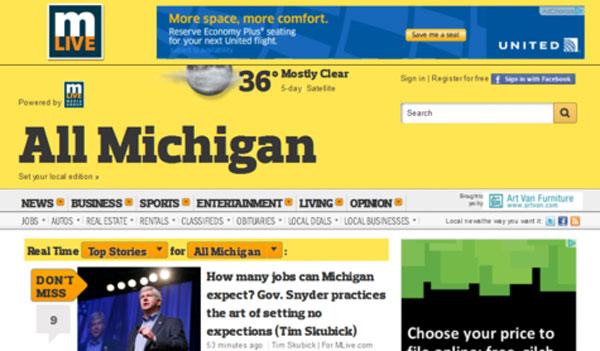 MLive.com 2012 design