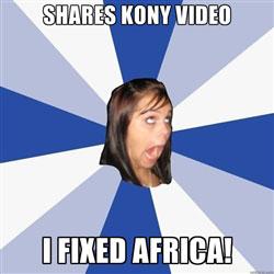 shares Kony video